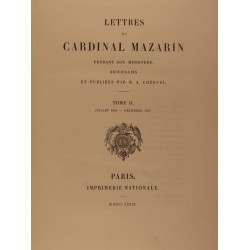 Lettres du cardinal Mazarin...
